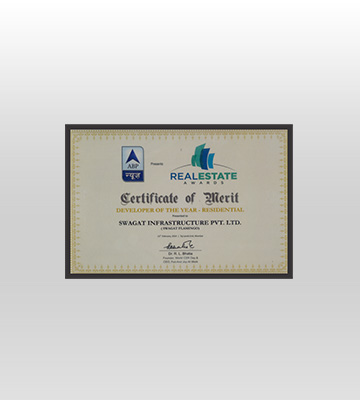 Award for 3BHK in Kudasan from ABP